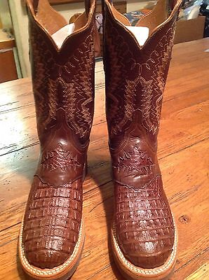 Womens Lucchese TailCut Alligator Western Boots sz 7B, Brown