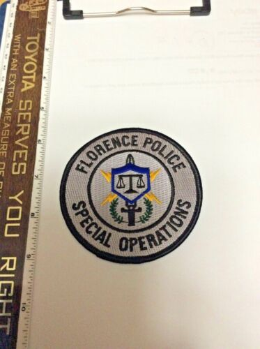 Florence Alabama Special Operations Subdued Police Shoulder Patch New