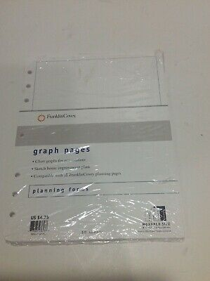 Franklin Covey Graph Pages Refill 50 Sheet Ruled Fits 7 Ring Binder Monarch