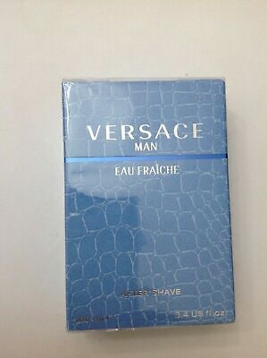 Versace Man Eau Fraiche After Shave 100ml e 3.4 Us fl.oz Made in Italy