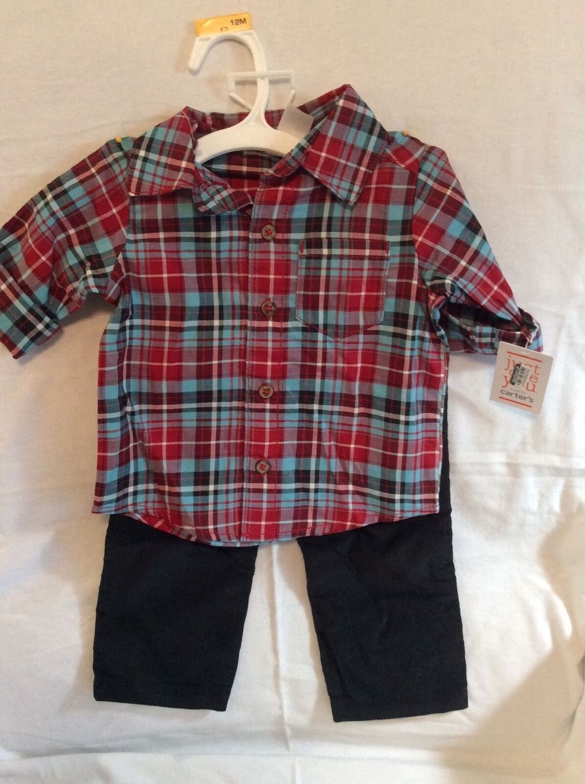 Carter's Just For You Shirt & Pants Outfit Set Baby Boys 12