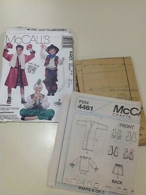 McCalls 4461 Halloween Costume Patterns Boxer Cowboy Karate Pirate Soldier M 6-8