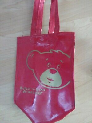 Build a Bear VERY RARE Red Vinyl Plastic Bag, Ipod with Earbuds + Phone Ipod Earbuds Accessory