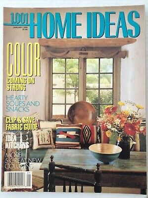 Home Coming Ideas (1001 Home Ideas Magazine Color Coming In Strong January 1989)