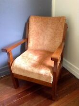 Reupholstered vintage timber armchair Thornlands Redland Area Preview