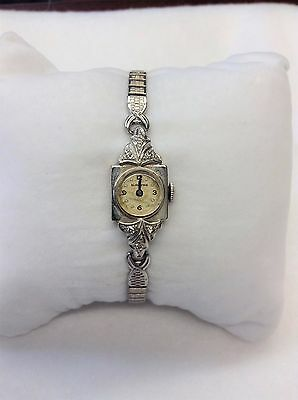 Vintage 14KT White Gold/Diamonds Ladies 17 Jewels Blancpain Watch-Not Running