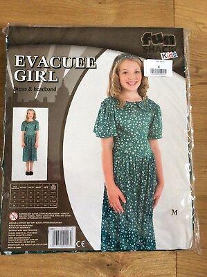 evacuee girl fancy dress costume NEW size M - Evacuee Fancy Dress Kostüme