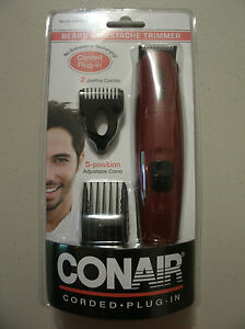 new conair beard and mustache trimmer corded plug in gmt8cs. Black Bedroom Furniture Sets. Home Design Ideas