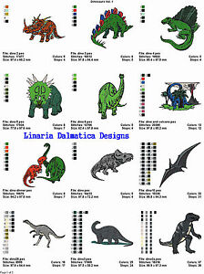 DINOSAURS V. 1 (4x4) - LD MACHINE EMBROIDERY DESIGNS