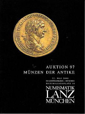 LANZ AUKTION  97 Katalog 2000 Kelten Griechen Römer Byzanz Völkerwanderung ?97