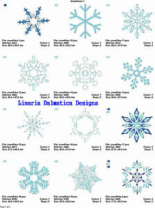 WINTER SNOWFLAKES (4x4) LD MACHINE EMBROIDERY DESIGNS