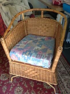 Antique Cane Commode Chair