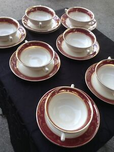 Set of double handled soup cups