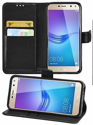 For Huawei Y5 / Y6 2017 Case Cover Leather Wallet Flip Stand Folio Card Slot