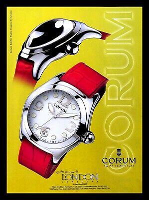 2000 Corum Swiss Timepeace Bubble Watch Vintage PRINT AD Severin Jewelry