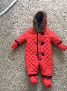 3-6 Month Red Snowsuit