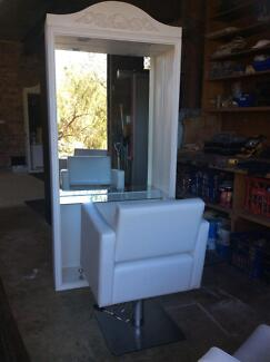 Hairdressing cutting station mirror and chairs Grays Point Sutherland Area Preview