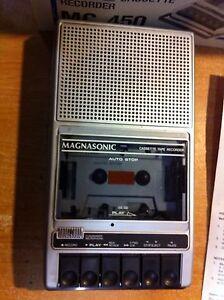Magnasonic cassette tape recorder