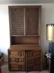 Solid wood  library cabinet