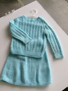 Soft Turquoise Girls 2 piece outfit