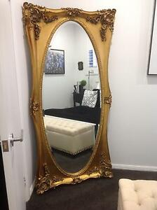 Gold floor length mirror Cameron Park Lake Macquarie Area Preview
