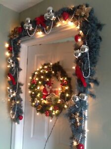 9' Garland comes with 50 Lights and decorated ready 4 Christmas