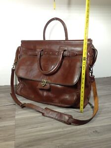 Brown leather Squadron overnight bag