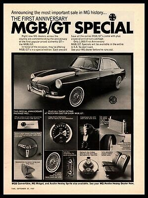 1967 MG MGB GT Special 1st Anniversary Edition Limited To 1000 Vintage Print Ad