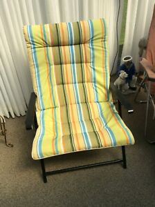 Folding padded lawn chair large size