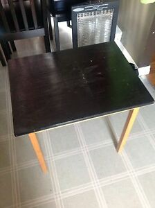 Black wooden table