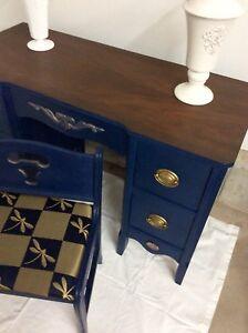 1940s stunning 3 piece vanity-desk set Freshly updated!