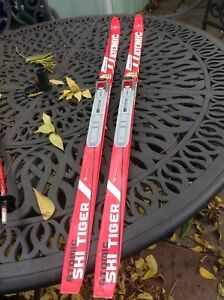 Youth cross country skis and poles
