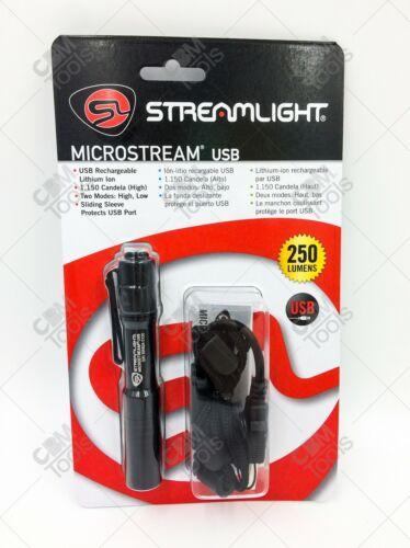 Streamlight 66601 MicroStream® USB LED Pen Light BLACK