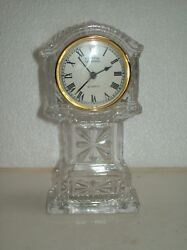 CRYSTAL LEGENDS BY GODINGER GLASS MINIATURE GRANDFATHER CLOCK  WORKING CONDITION