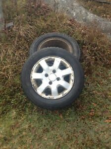 4 rims and tires 195/65/15