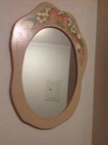Tole painted mirror