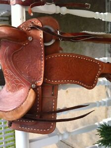 Saddle with bridle/reigns