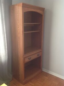 Wooden armoire chest cupboard shelf unit drawer bookcase