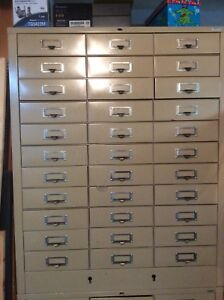 3 Cole Steel Cabinet,