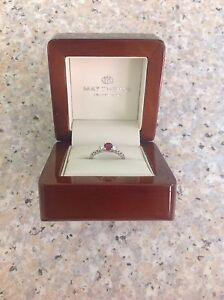 Platinum ruby/diamond engagement ring. New Carlton North Melbourne City Preview