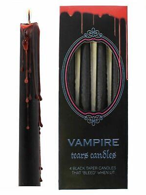 Vampire Tears Black Candles- Set of 4 Bleeding Candles -Gothic Rituals Halloween](Halloween Candles)