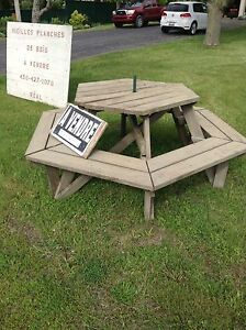 Table picnic  hectagone
