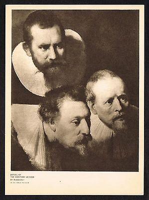 1910s Antique Anatomy Lesson Medical Doctor Rembrandt Photogravure Art Print