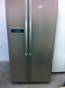Lg stainless steel fridge/freezer St Marys Penrith Area Preview