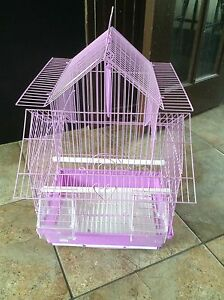 Bird cage for 25$ for 4 small birds in purple  colour new.