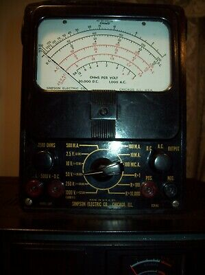 Vintage Simpson 260 Volt Ohm Milliammeter Multi-meter Vom Tested Working