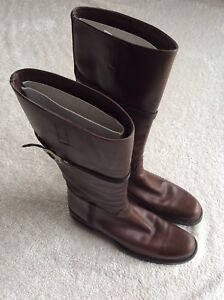 Prada brown leather boots like new
