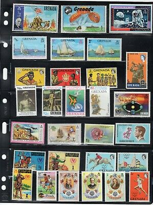 GRENADA -  GOOD LOT OF 29 DIFF MODERN MINT HINGED STAMPS FROM ALBUMS. CHEAP!
