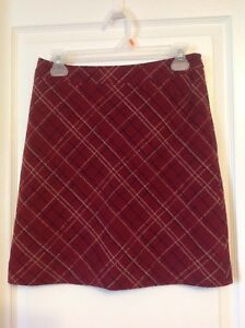 Red Plaid Skirt American Eagle