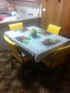 Funky retro vintage dining table and matching chairs Wallaroo Copper Coast Preview